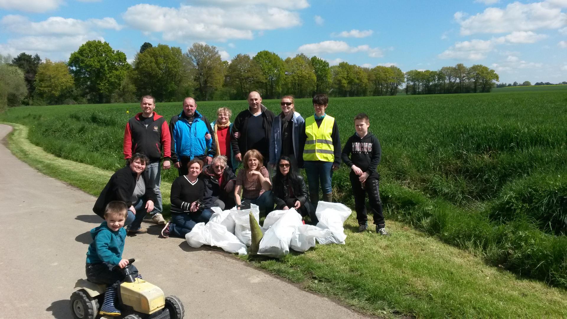 Notre collecte de déchets, le 1er mai 2016